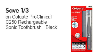 Save 1/3 Colgate Pro Clinical C250 Rechargable sonic toothbrush