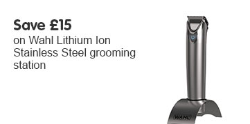 Save £15 on Wahl Lithium Ion Stainless Steel Grooming Station