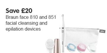 Save £20 Braun Face 851 and 810