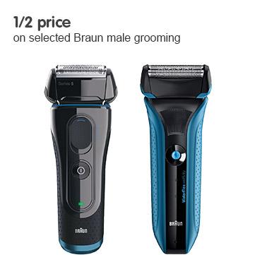 1/2 Price on selected Braun