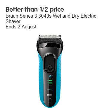 Better than half price Braun wet and dry