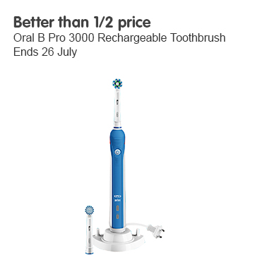 Better than half price Oral B pro 3000