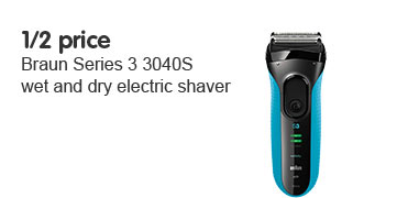 1/2 price Braun Series 3 3040s Wet and Dry Electric Shaver