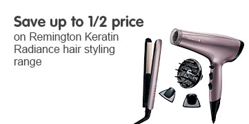Save up to half price on Remington Keratin Radiance