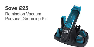 Save £25 Remington Vacuum Personal Grooming Kit