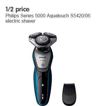 Half price on Philips series 5 S5420 electric shaver
