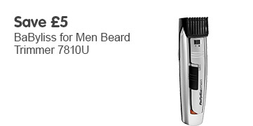 save £5 Babyliss for men beard trimmer
