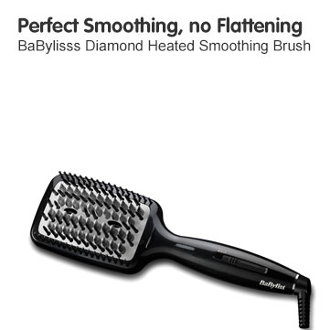 Perfect Smoothing, No Flattening BaBylisss Diamond Heated Smoothing Brush