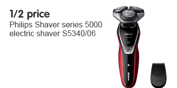 1/2 price Philips Shaver 5000 electric shaver S5340/06