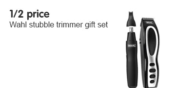 1/2 price on Wahl Stubble trimmer set