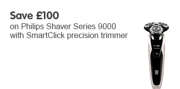 Save 100 Philips Shaver Series 9000 with SmartClick precision trimmer