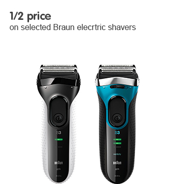 1/2 price on selected Braun electric shavers