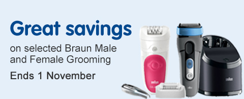 Great savings on selected Braun grooming