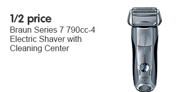 1/2 price braun series 7 790 shaver with cleaning center