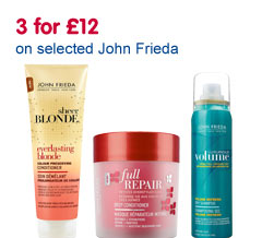 3 for �12 on selected John Frieda