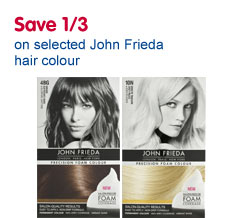 save 1/3 on selected John Frieda