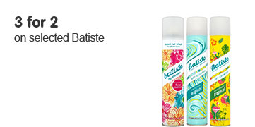 3 for 2 on selected Batiste