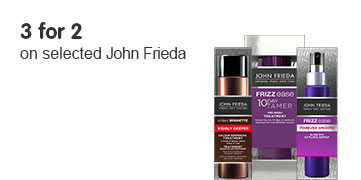 3 for 2 on selected John Frieda