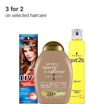 3 for 2 pn selected Haircare