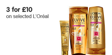3 for £10 on selected L'Oreal Elvive