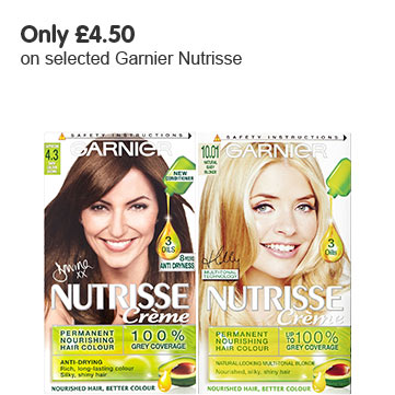 Only £4.50 on selected Garnier Nutrisse