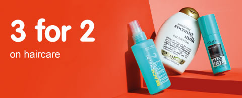 3 for 2 on selected haircare