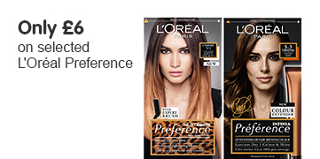 Only £6 on selected Loreal Preference