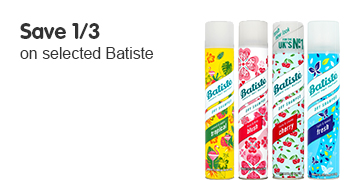 save 1/3 on selected Batiste