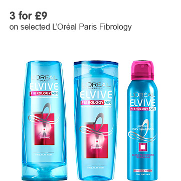 3 for £9 on selected Elvive Fibrology