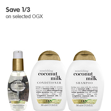 save 1/3 on selected OGX