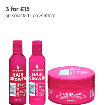 3 for £15 on selected Lee Stafford