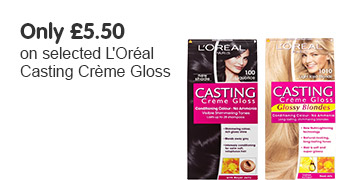 only £5.50 on selected loreal casting creme gloss