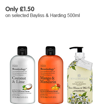 Only £1.50 on selected Bayliss & Harding 500ml