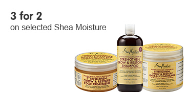 3 for 2 on selected Shea moisture