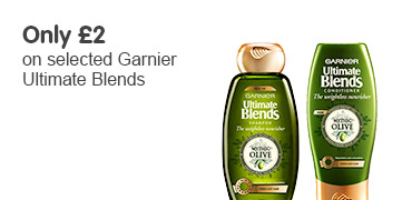 only two pound on selected garnier ultimate blends