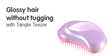 glossy  hair without tugging with tangle teezer