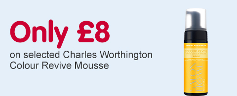 Only £8 on selected Charles Worthington Colour Revivie Mousse