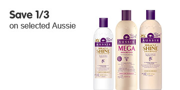 save 1/3 on selected aussie