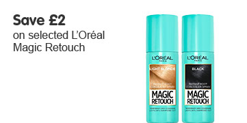 save £2 on selected loreal magic retouch