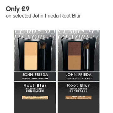 only £9 on selected john frieda root blur