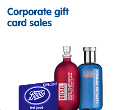 Corporate gift card sales