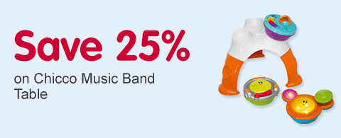 Save 25% on Chicco Music Band Table
