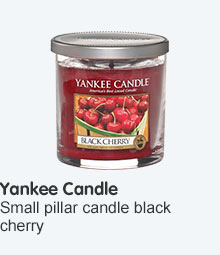 Yankee Candles decor small pillar candle black cherry