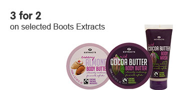 3 for 2 on selected Boots Extracts