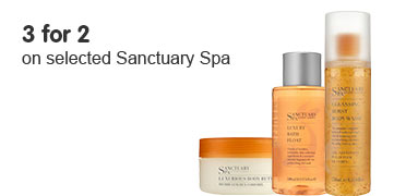 3 for 2 on selected Sanctuary Spa