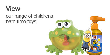 View our range of childrens bath time toys