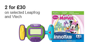 2 for £30 on selected Leapfrog and Vtech
