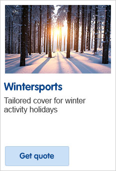 Wintersports travel insurance