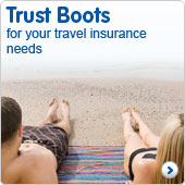 Trust Boots for your travel insurance needs