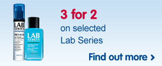 3 for 2 on selected Lab Series